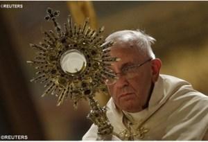 Papa no corpus christi
