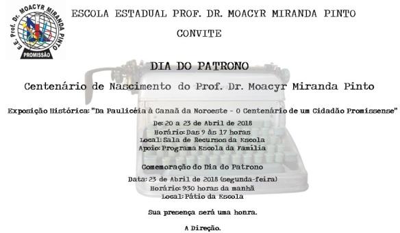 convite centenario Dr. Moacyr